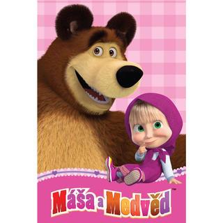 Deka Máša a medveď fleece