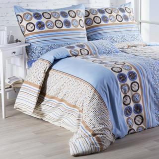 Flanelové posteľné obliečky Luisa modré