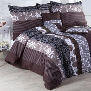 Krepové posteľné obliečky Chocolate