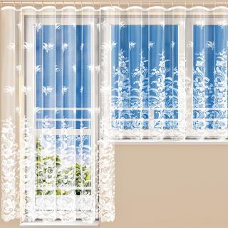 Hotová žakárová záclona JULIE - balkónový komplet