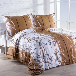 Krepová posteľná bielizeň Twist hnedá