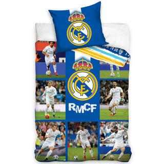 Bavlnené posteľné obliečky FC Real Madrid