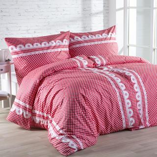 Bavlnená posteľná súprava Matylda červená
