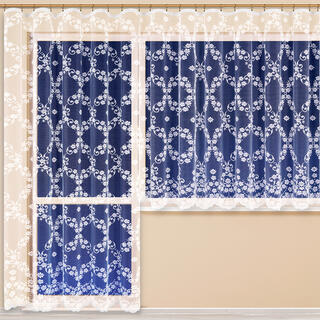 Hotová žakárová záclona VANESSA balkónový komplet