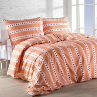 Bavlnená posteľná súprava Barunka oranžová
