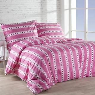 Bavlnené posteľné obliečky BARUNKA malinová, predĺžená dĺžka