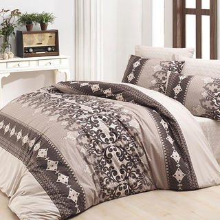 Bavlnené posteľné obliečky LAUREN hnedé