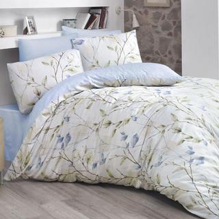 Bavlnené posteľné obliečky Blosom modré