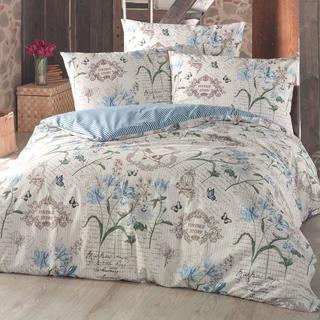 Bavlnené posteľné obliečky Valerie modré