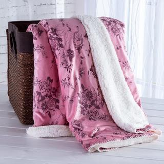 Barančeková deka s embosovaným vzorom staroružová 140 x 200 cm