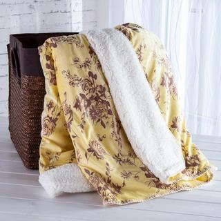 Barančeková deka s embosovaným vzorom krémová 140 x 200 cm