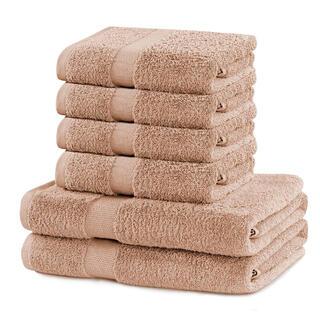 Sada froté uterákov a osušiek MARINA béžová 6 ks