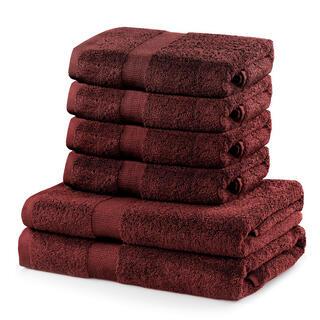 Sada froté uterákov a osušiek MARINA hnedá 6 ks