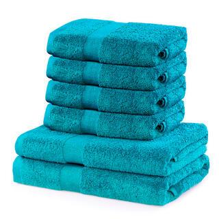 Sada froté uterákov a osušiek MARINA tyrkysová 6 ks