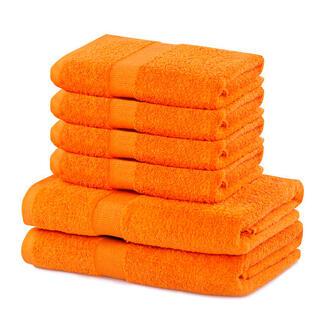 Sada froté uterákov a osušiek MARINA oranžová 6 ks