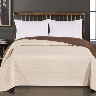 Prikrývka na posteľ Axel, smotanová