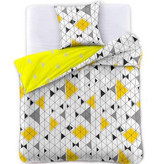 Saténové posteľné obliečky GEOMETRIC