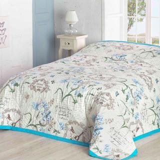 Prikrývka na posteľ Valerie, modrá