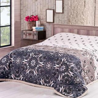Prikrývka na posteľ Alberica, hnedá 220 x 240 cm