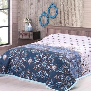 Prikrývka na posteľ Alberica, modrá
