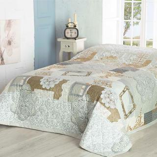 Prikrývka na posteľ LACE béžová