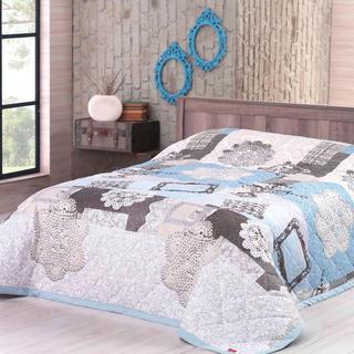 Prikrývka na posteľ LACE tyrkysová