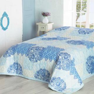 Prikrývka na posteľ OTTORINO tyrkysová
