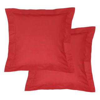 Bavlnené obliečky na vankúšiky s lemom, červené 2 ks