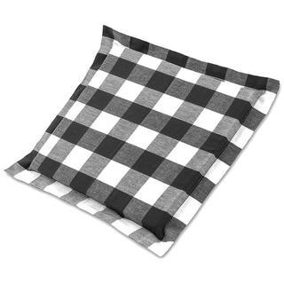 Sedák India s ozdobným lemom kocka čiernobiely 38 x 38 cm