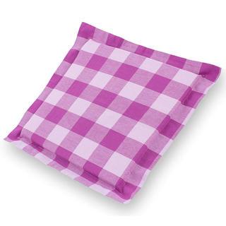 Sedák India s ozdobným lemom kocka fialový 38 x 38 cm