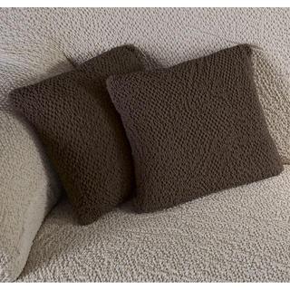 Bielastické poťahy BUKLÉ tabakova, obliečky na vankúšiky 2 ks (40 x 40 cm)