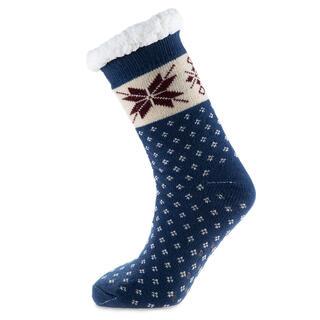 Hrejivé ponožky na spanie modré