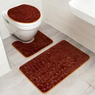 Sada kúpeľňových predložiek KAMENE 3 ks