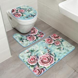 Sada kúpeľňových predložiek RUŽA 3 ks