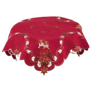 Vianočný stredový obrus červený 85 x 85 cm
