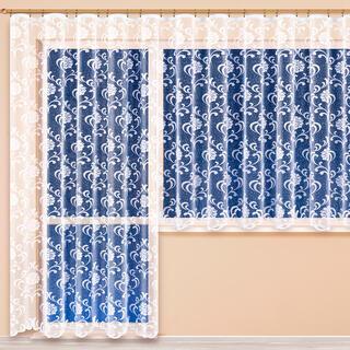 Hotová žakárová záclona NINA - balkónový komplet