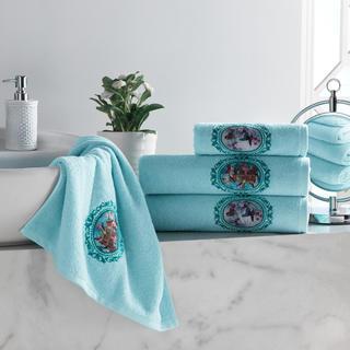 Sada froté uterákov s výšivkou svetlomodrá 4 ks