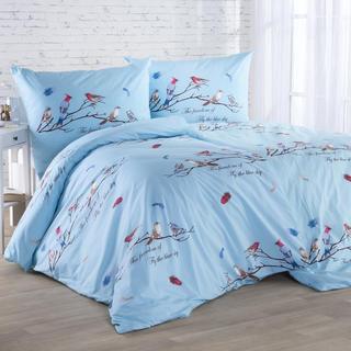 Bavlnené posteľné obliečky VTÁKY