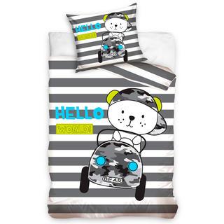 Detské posteľné obliečky MACKO V AUTE