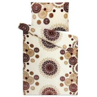 Posteľné obliečky z mikroplyšu MANDALA Vanilkové