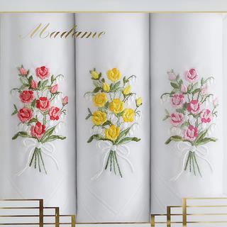 Dámske bavlnené vreckovky GRACE Kytica ruží sada 3 ks