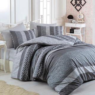 Bavlnené posteľné obliečky GLOBAL šedé, štandardná dĺžka