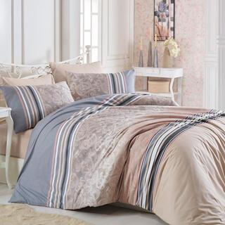 Bavlnené posteľné obliečky RASTI Hnedé, francúzska posteľ
