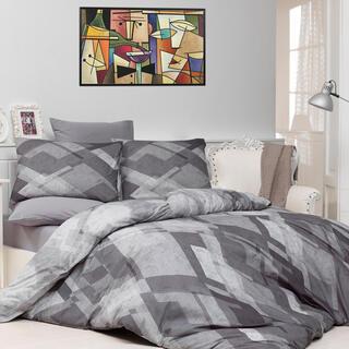 Bavlnené posteľné obliečky MOSAIC Šedé, štandardná dĺžka