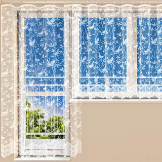 Hotová žakárová záclona MARIANNA - balkónový komplet