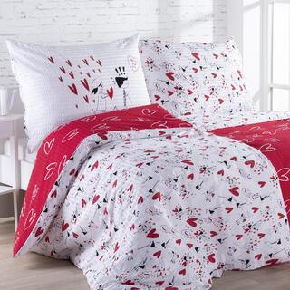 Krepové posteľné obliečky LÁSKA, štandardná dĺžka