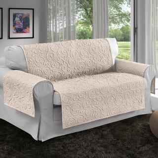 Prikrývky na sedaciu súpravu VOLTE smotanové, dvojkreslo - sedák 120 cm