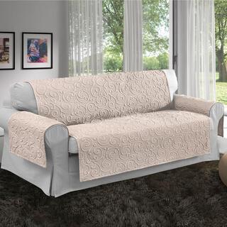 Prikrývky na sedaciu súpravu VOLTE smotanové, trojkreslo - sedák 170 cm