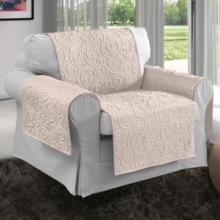 Prikrývky na sedaciu súpravu VOLTE smotanové, kreslo - sedák 50 cm