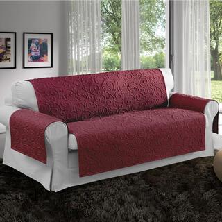 Prikrývky na sedaciu súpravu VOLTE bordó, trojkreslo - sedák 170 cm